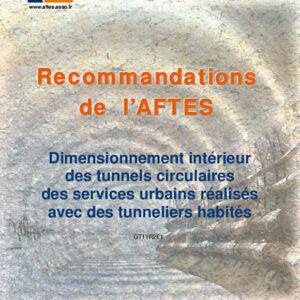 Dimensionnement intérieur des tunnels circulaires des services urbains réalisés avec des tunneliers habités