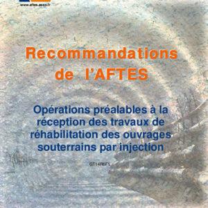 Opérations préalables à la réception des travaux de réhabilitation des ouvrages souterrains par injection