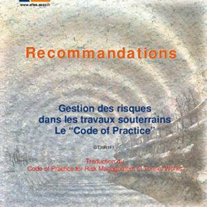 """Traduction du """"Code of Practice"""" Gestion des risques dans les travaux souterrains"""