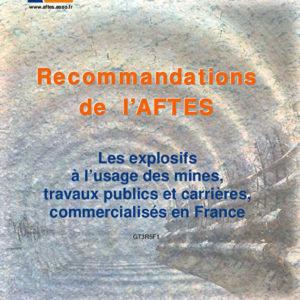 Les explosifs à l'usage des mines, travaux publics et carrières, commercialisés en France