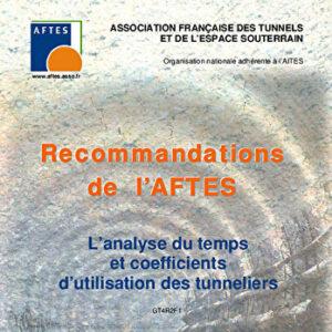 L'analyse du temps et coefficients d'utilisation des tunneliers
