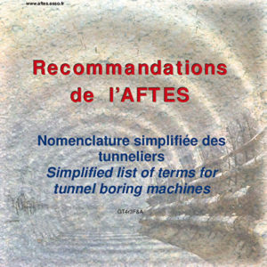 Nomenclature simplifiée des tunneliers / Simplified list of terms for tunnel boring machines