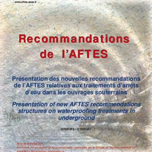 Présentation des nouvelles recommandations de l'AFTES relatives aux traitements d'arrêts d'eau dans les ouvrages souterrains
