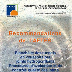 Etanchéité des tunnels en voussoirs par joints hydrogonflants - Procédures d'évaluation et de contrôle qualité des joints