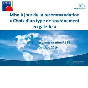 Choix d'un type de soutènement en galerie : point d'étape de la révision de la recommandation du GT7
