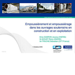 Empoussiérage et empoussièrement, réglementation, protection sanitaire, prévention, métrologie, ventilation,