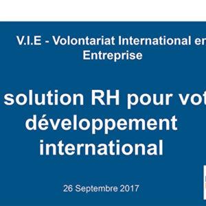 Le volontariat international en entreprise