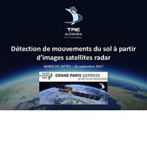 La Société du Grand Paris et l'interférométrie satellite radar