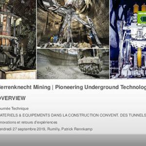 Construction conventionnelle des tunnels - Innovations et retours d'expériences