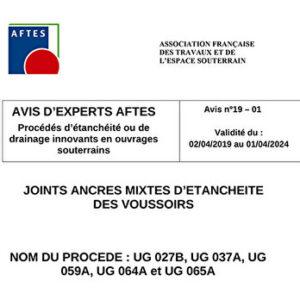 Avis n°19–01 Validité du : 02/04/2019 au 01/04/2024