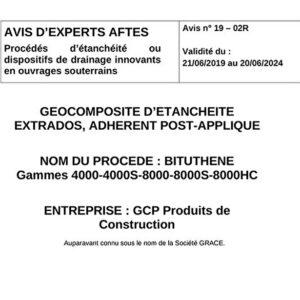 Avis n°19–02R - Validité du : 21/06/2019 au 20/06/2024