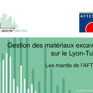 Gestion des matériaux excavés sur le Lyon-Turin