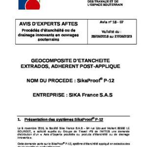 Avis n°18–07 - Validité du : 28/05/2018 au 27/05/2023