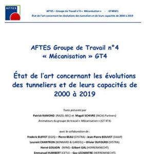 Etat de l'art concernant les évolutions des tunneliers et de leurs capacités de 2000 à 2019