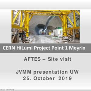 Chantier du LHC du CERN - Réalisation d'une caverne et d'un tunnel sur le site du LHC du CERN