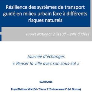 L'approche environnementale - Résilience des infrastructures de transports guidés