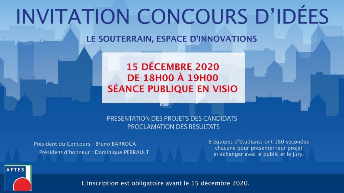 AFTES - Concours d'idées : Le souterrain espace d'innovations