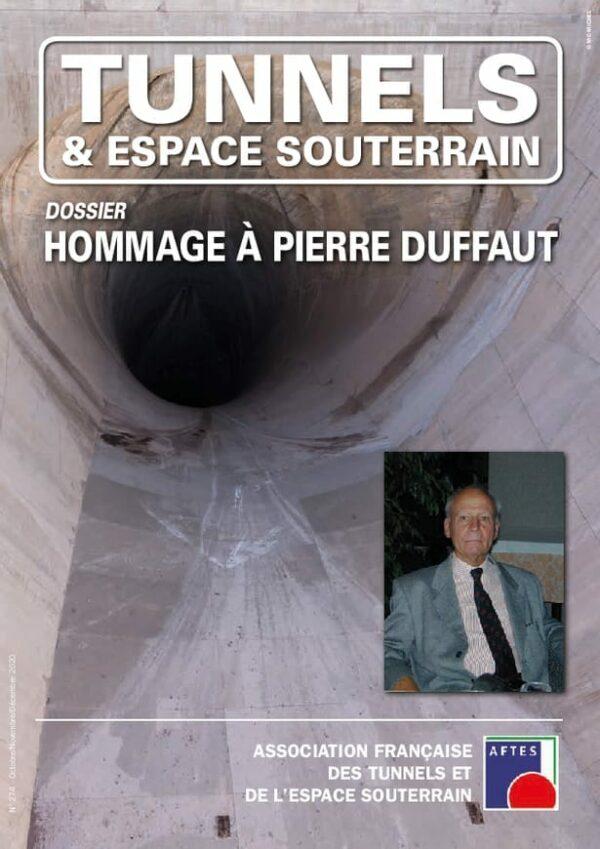 Tunnels et Espace Souterrain – N° 274 – Octobre-Novembre-Décembre 2020