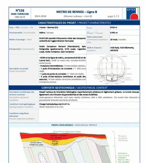 Fiche Tunnelier n°126 - AFTES
