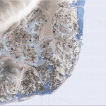 Carte des inondations possibles à Lisbonne
